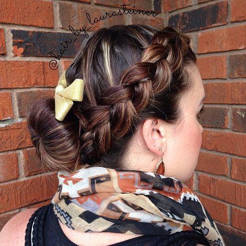 bun and braid low maintenance updo