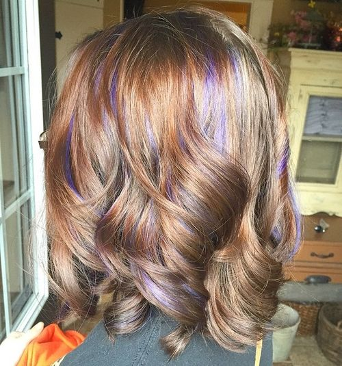 purple babylights for light brown hair