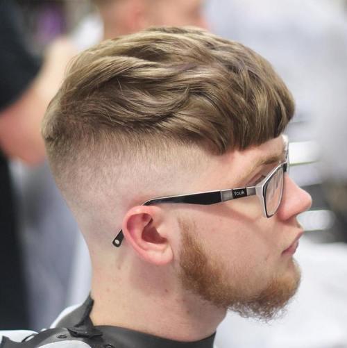 long top wavy Caesar Haircut
