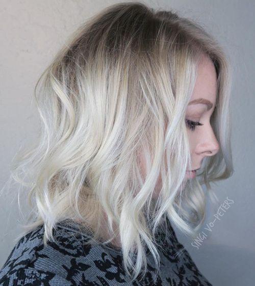 Messy Blonde Lob