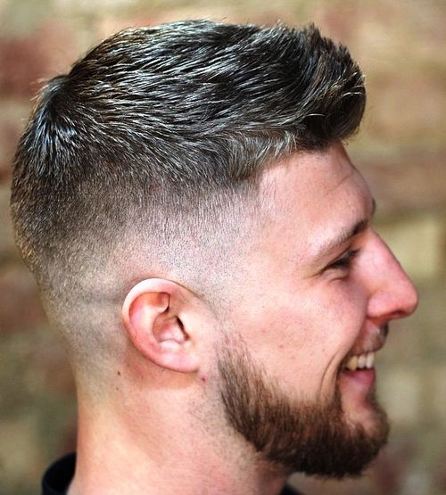 short faded quiff haircut