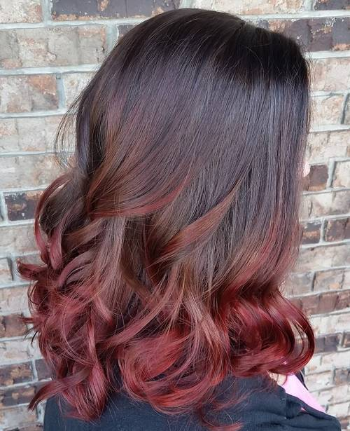 Black hair and burgundy highlights the best black hair 2017 best 25 burgundy hair with highlights ideas on fall pmusecretfo Gallery