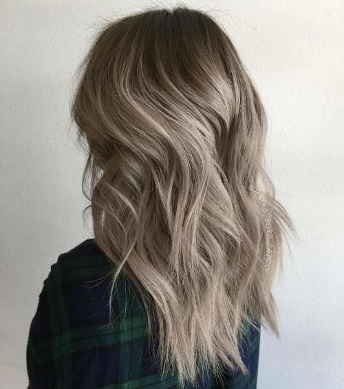 long layered gray hairstyle