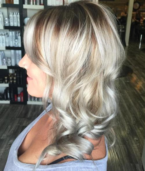 Curly Ash Blonde Hairstyle