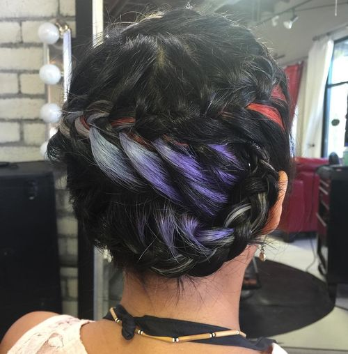 Hair style fashion purple silver and red peek a boo highlights for black hair pmusecretfo Image collections