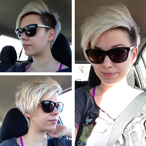 two-tone pixie with undercut