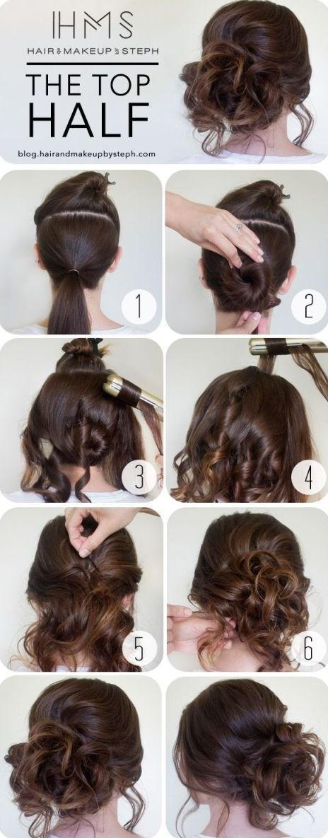 How-To Curly Messy Side Bun