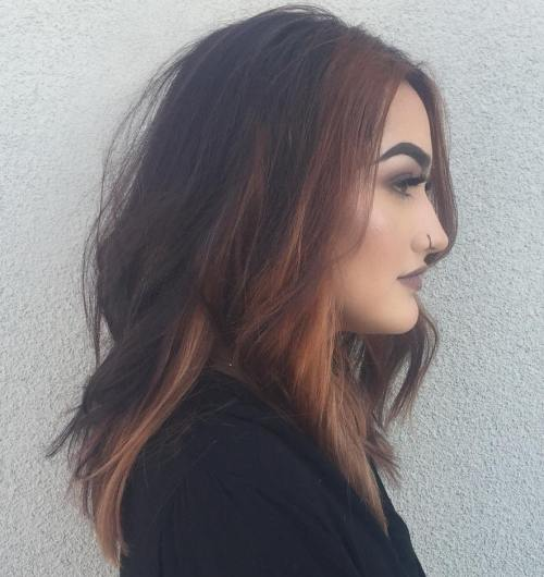 Two Tone Caramel Blonde And Brown Hair