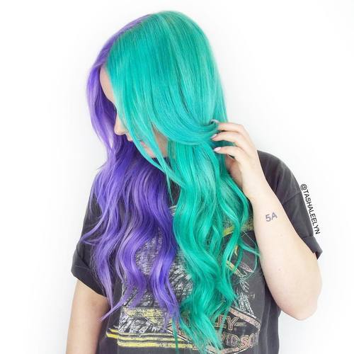 fresh teal hair color ideas
