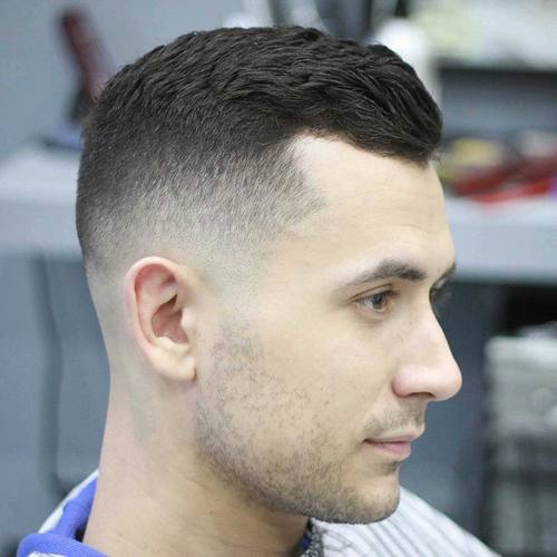 side parted taper fade