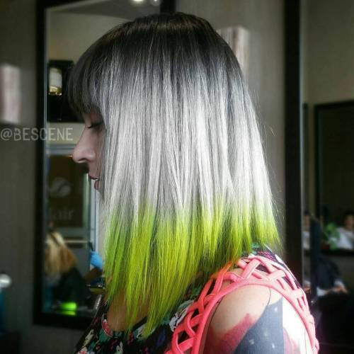Balayage Ombre With Base Color 20 Ways To Rock Green Hair
