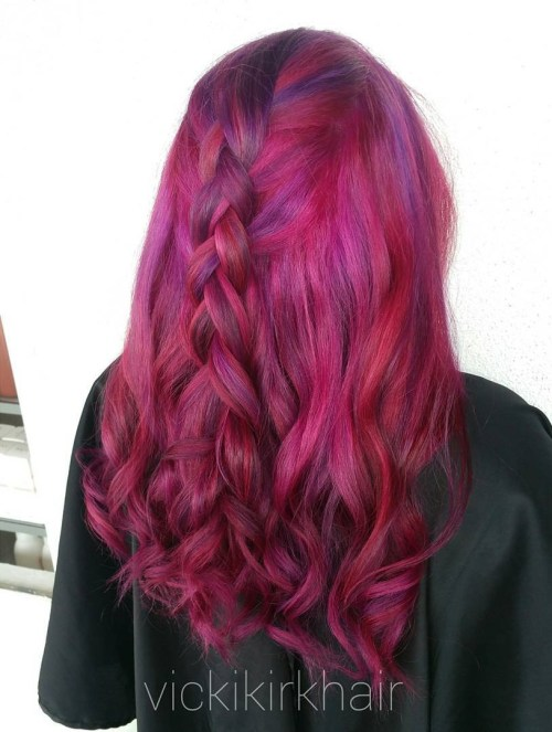 Magenta Hair With Subtle Purple Highlights