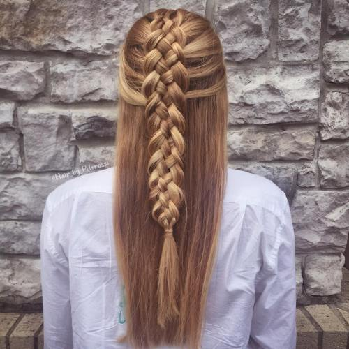 Half Updo With Strand Braid
