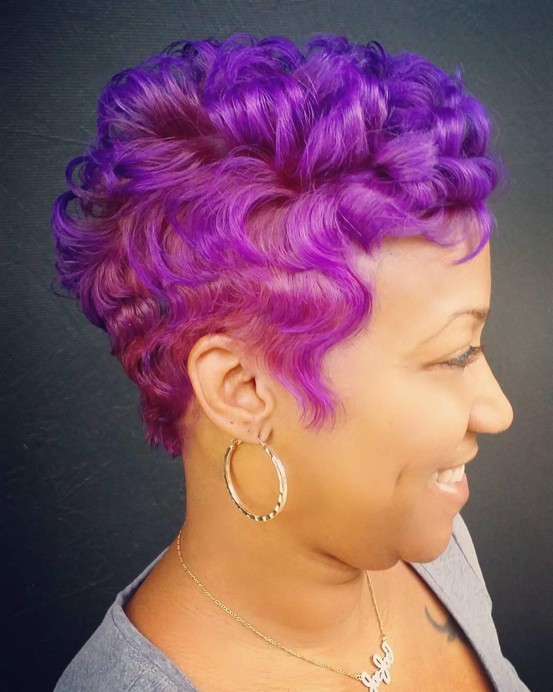 Purple Pixie Hairstyle