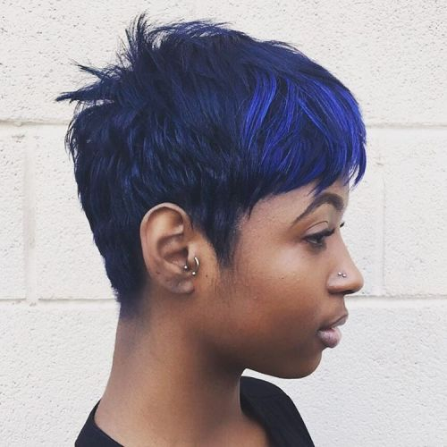 Choppy Dark Blue Pixie