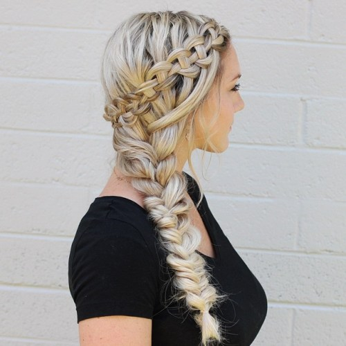 Crown Braid And Side Braid