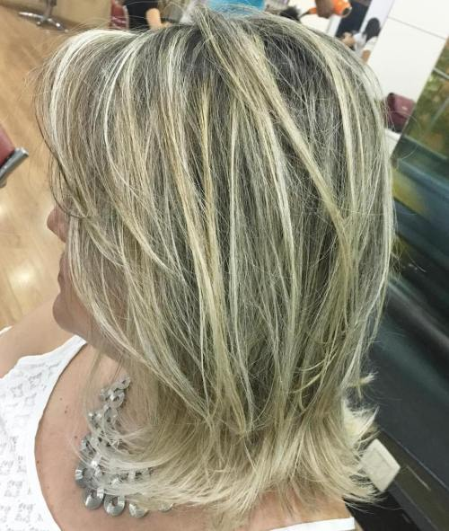 Mid-Length Layered Blonde Balayage Hair