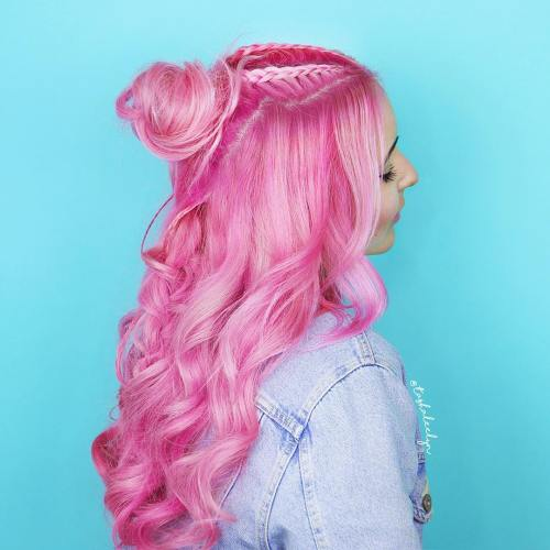 Pink Curly Wig