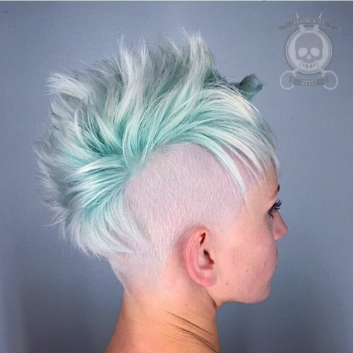 Pastel Blue Undercut Hairstyle