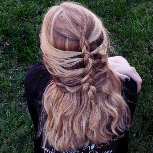 Easy Half Up Mermaid Braid