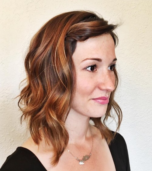 Reddish Brown Balayage Bob