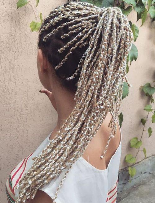 Blonde Yarn Wraps
