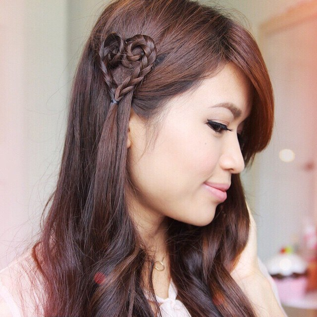 St Valentine's Day Hairstyle With Heart