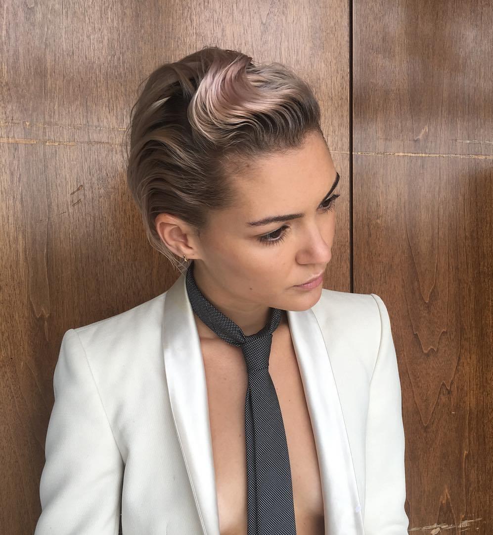 Short Sleek Wavy Hairstyle