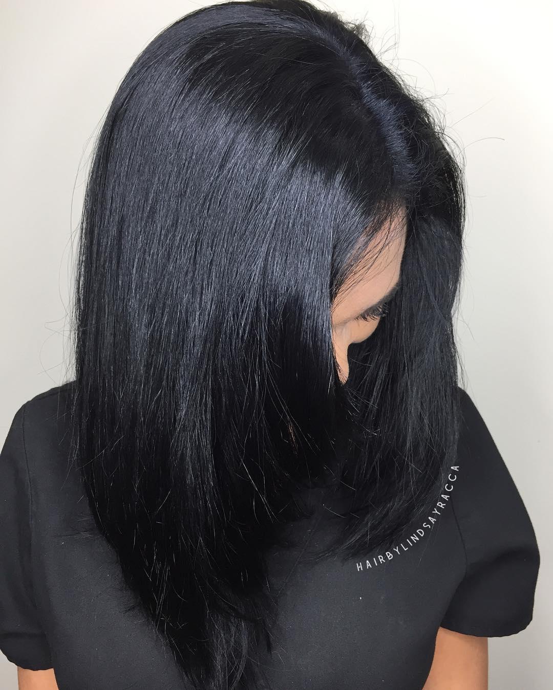 Medium Layered Black Hair