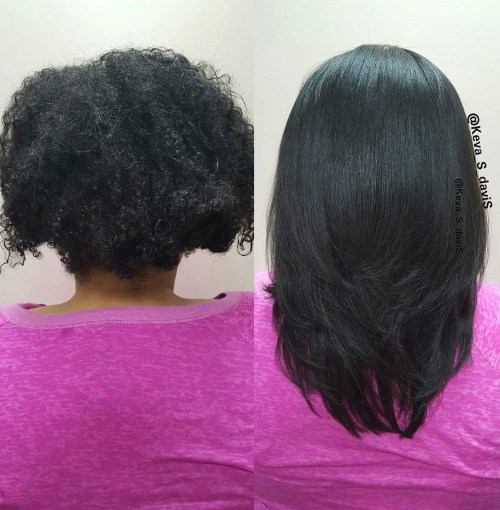before after keratin treatment