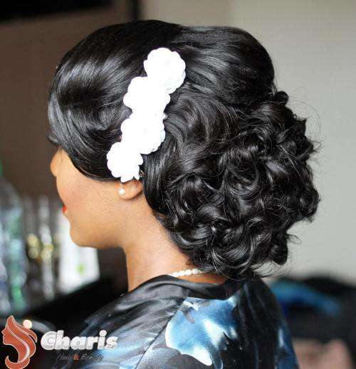 Black Wedding Updo