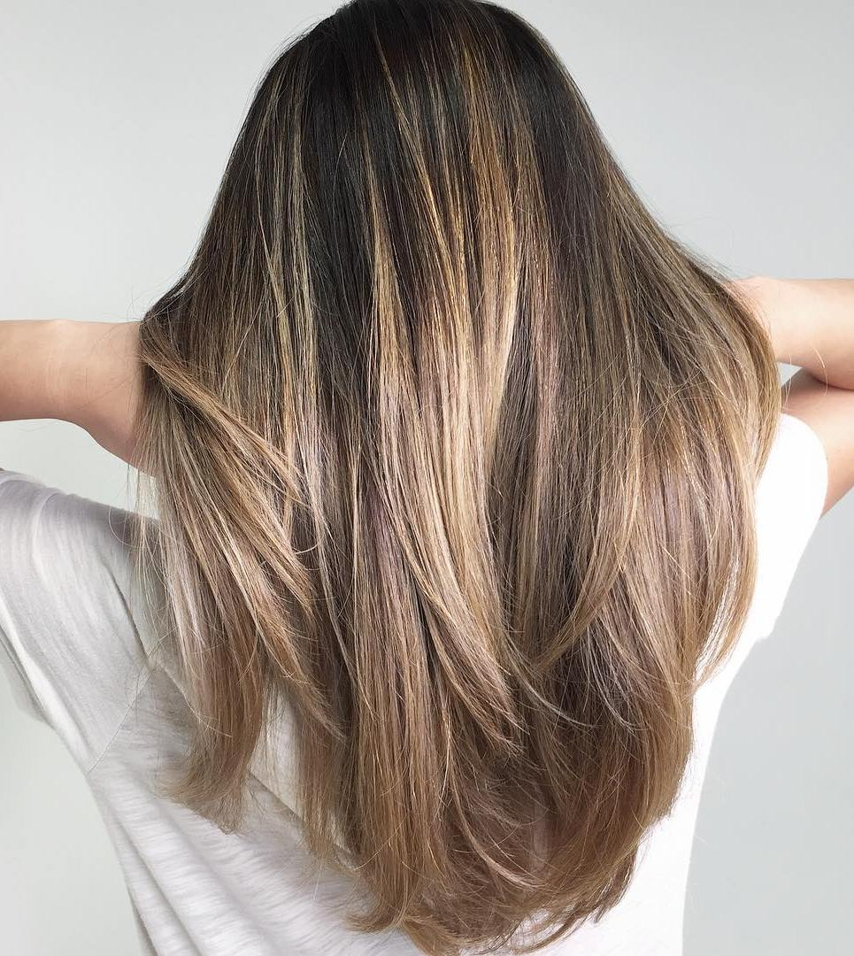 Long Bob Ombre Braun 20 Natural Looking Brunette Balayage Styles
