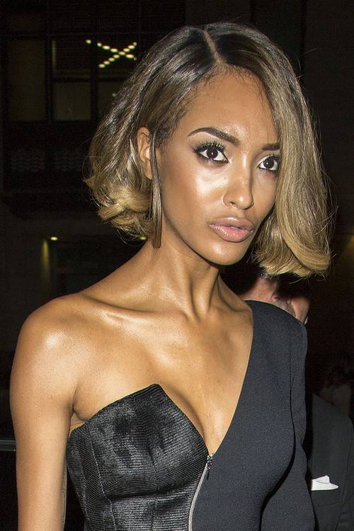 Jourdan Dunn bob hairstyle