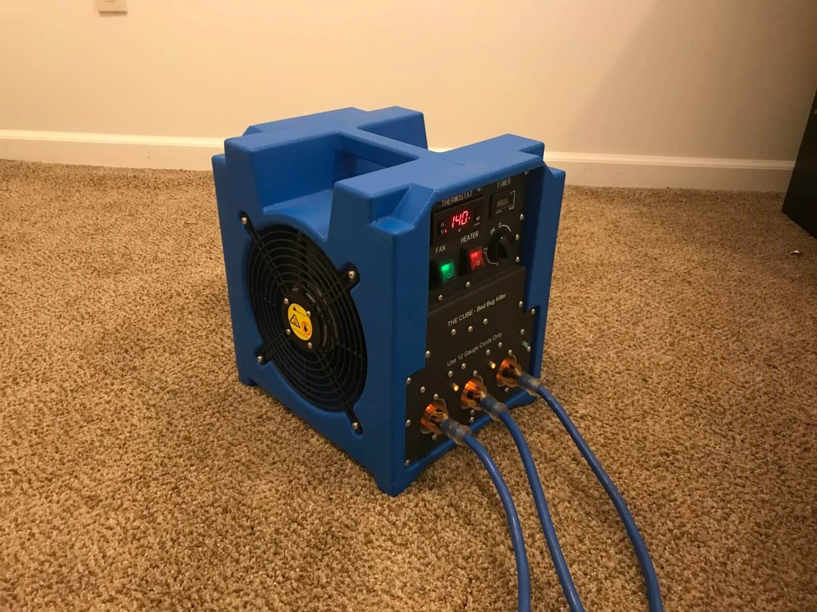 Single Room Electric Bed Bug Heater Thermal Flow