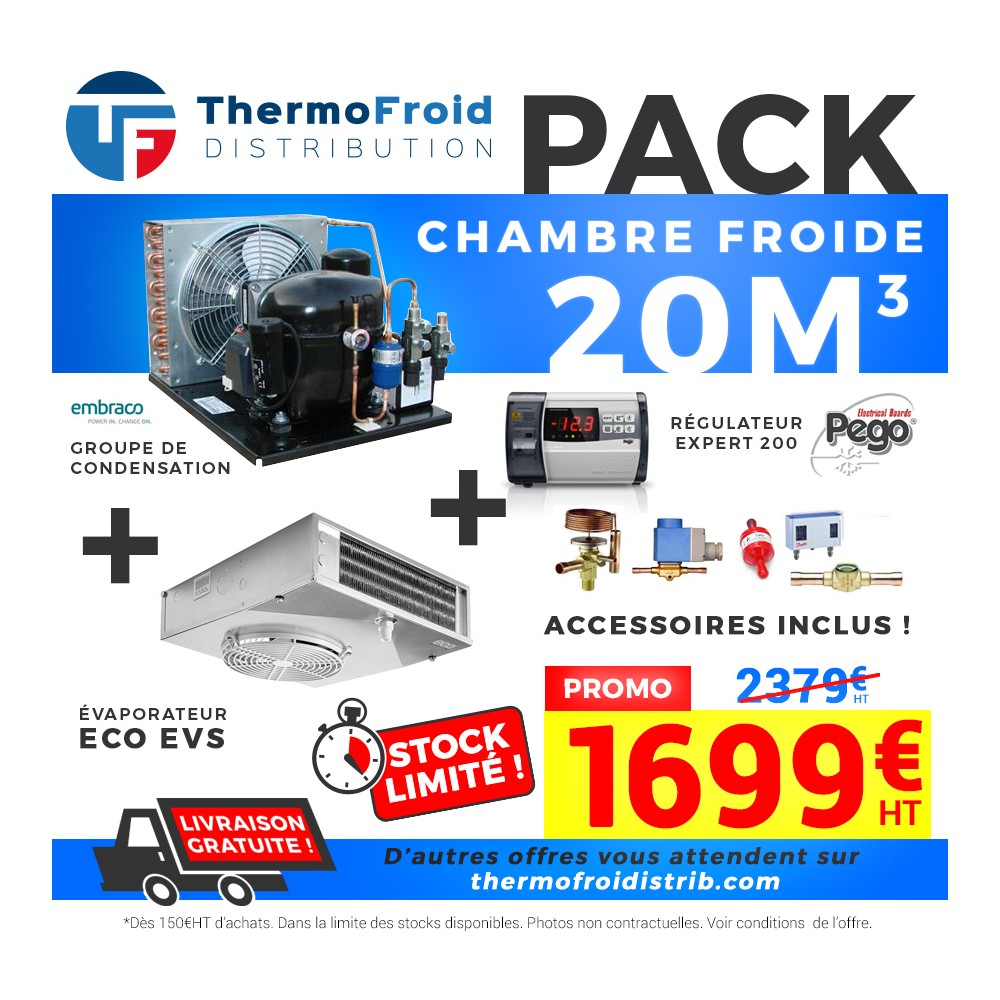 Chambre Froide Positive En Kit Cf 20m3akembra Complet à 1 699 00 Chez Thermofroid Distribution