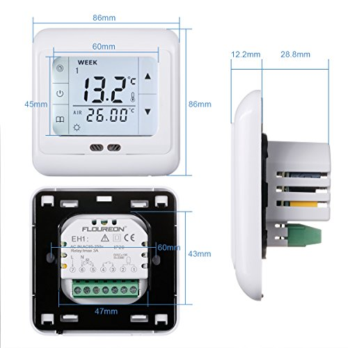 Duschthermostat Unterputz Floureon Digital Thermostat 3a Raumthermostat