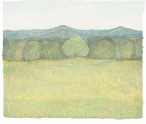 Susan Cofer, Levavi Oculos, 2009.  Colored pencil on paper.