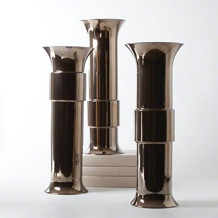 Bronze Collar Vases