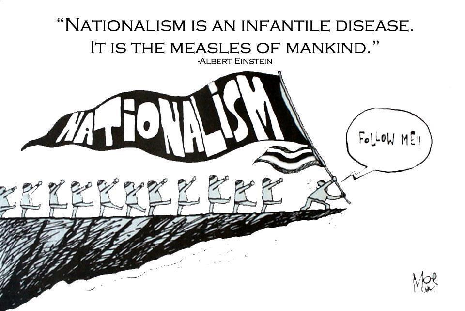 Demonstrates how nationalism lead the nationalist in the wrong - formal agenda format