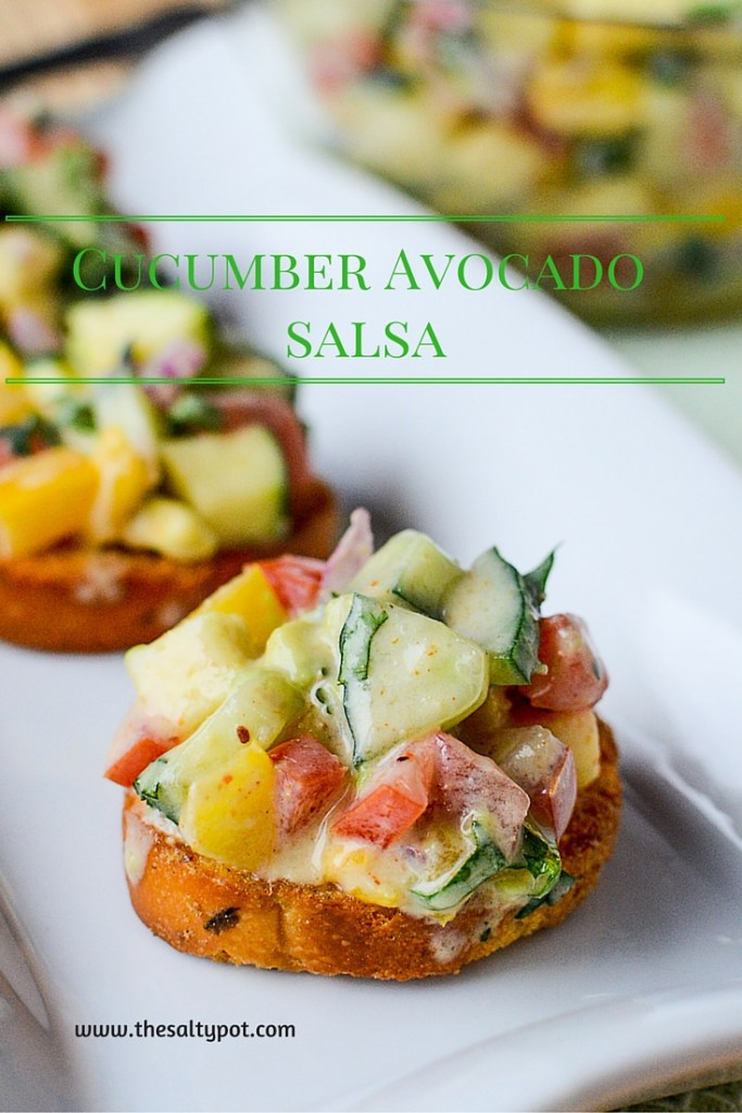 CUCUMBER AVOCADO SALSA | The Salty Pot