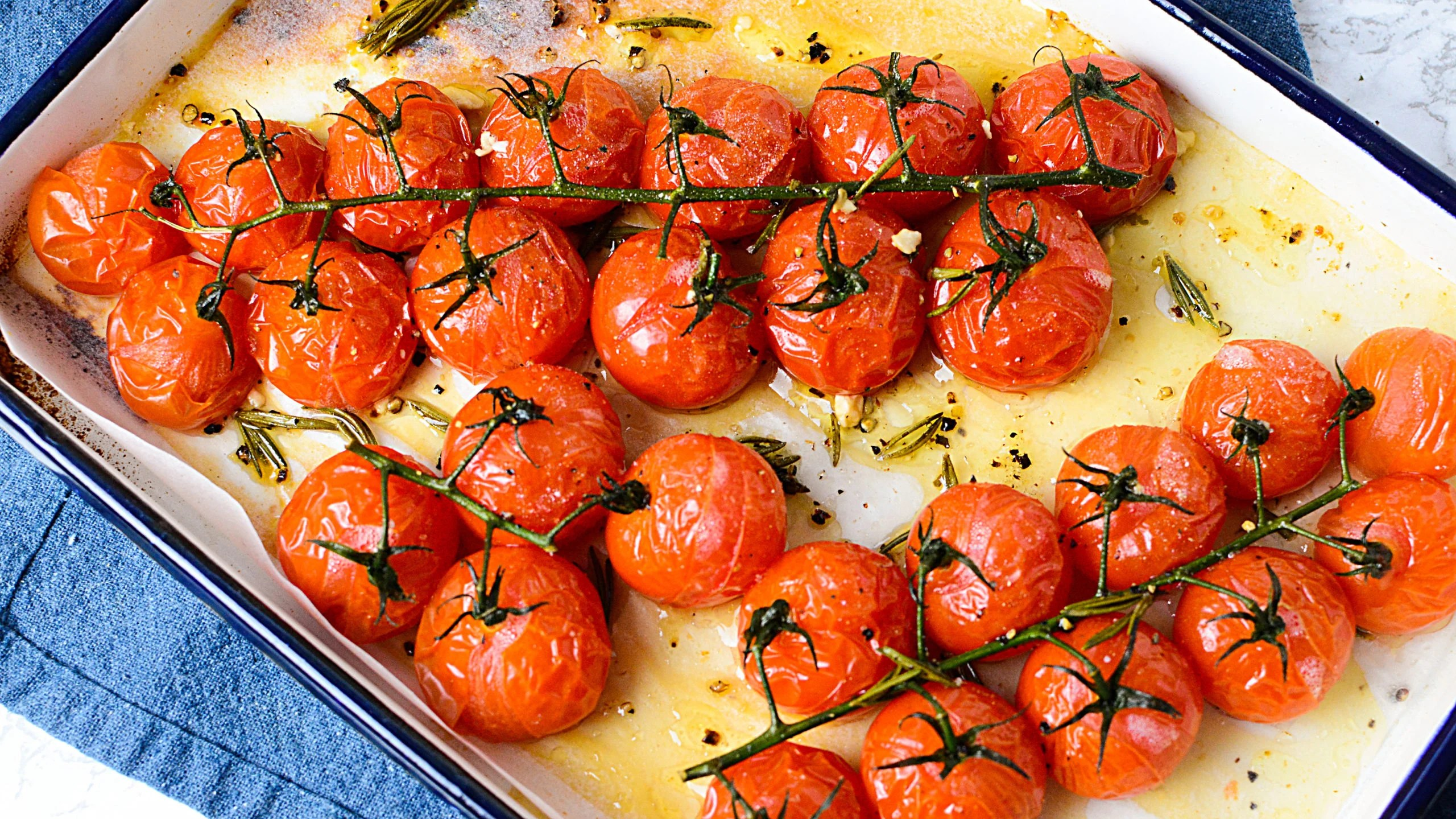 Mediterranean Roasted Vine Tomatoes The Salty Pot