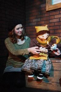 Julie Wacksman as the Little Match Girl