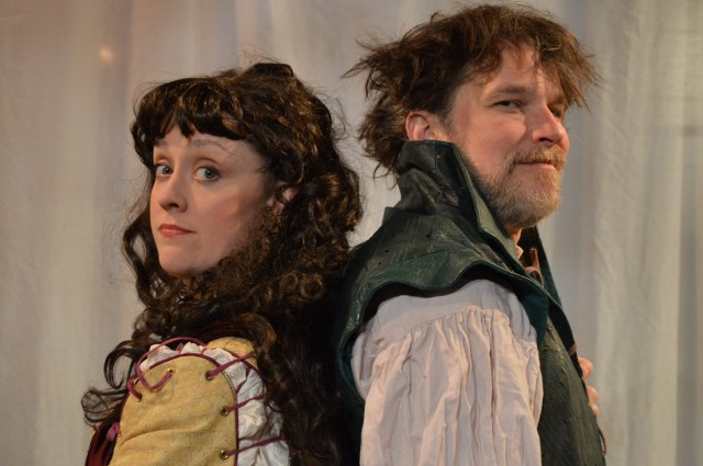 "Kelly Mengelkoch as Kate and Nicholas Rose as Petruchio in Cincinnati Shakespeare Company's 2015 production of William Shakespeare's ""The Taming of the Shrew"", directed by Kevin Hammond, playing April 3-25, 2015.  Performances are located at CSC's Theatre, 719 Race Street in downtown Cincinnati. Tickets are $14-$35 and are available now online at cincyshakes.com or by calling the box office 513.381.2273. Photos by Cal Harris."