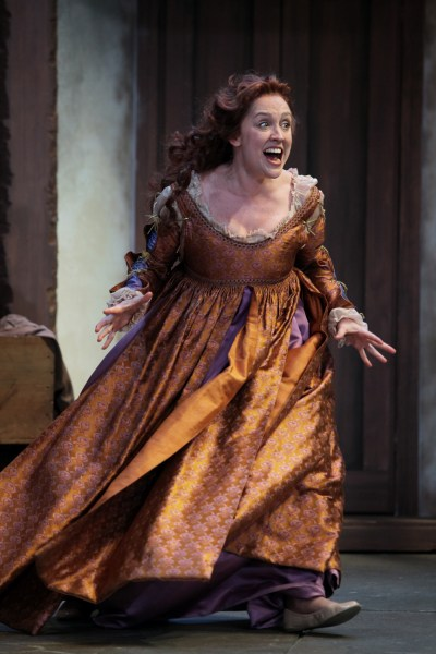 "Kelly Mengelkoch as Kate in Cincinnati Shakespeare Company's 2015 production of William Shakespeare's ""The Taming of the Shrew"", directed by Kevin Hammond, playing April 3-25, 2015.  Performances are located at CSC's Theatre, 719 Race Street in downtown Cincinnati. Tickets are $14-$35 and are available now online at cincyshakes.com or by calling the box office 513.381.2273.  By Mikki Schaffner Photography."