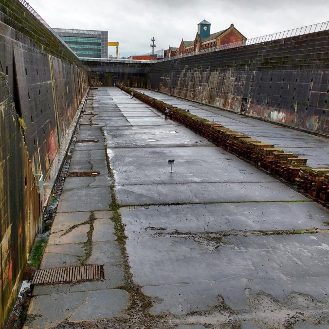 The dry dock for the Titanic still stands in Belfasthellip