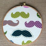 Mustache Embroidery Hoop Wall Hanging. If you can't grow a mustache, make sure your soul has a mustache... Or, at the minimum, you have an awesome mustache wall hanging!