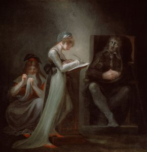 Henry Fuseli, Milton Dictating to His Daughter (1794)