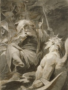 James Barry, Satan at the Abode of Chaos and Old Night (ca. 1792-95)