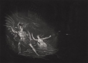 John Martin, John Martin, The Conflict Between Satan and Death (ca. 1823-25)