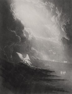 John Martin, Satan viewing the Ascent to Heaven (1827)